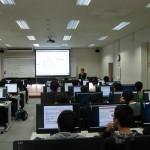 第1演習室における情報リテラシーの講義