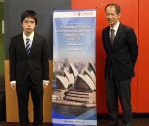 国際会議終了直後の記念撮影(写真左:木口卓巳君)