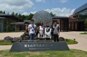 研修旅行風景(富士山世界遺産センター)