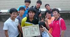 第3位入賞した男子テニス部