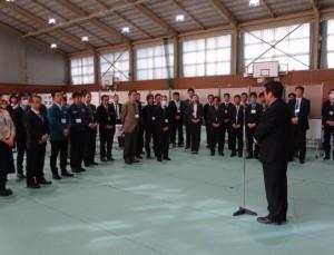 藤本校長から参加企業への挨拶