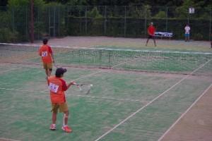 ソフトテニスの試合風景(2)