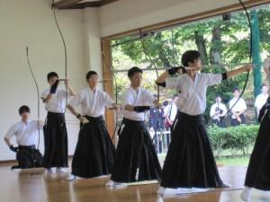 弓道の試合風景(2)