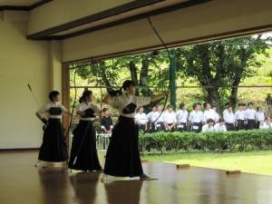 弓道の試合風景(1)