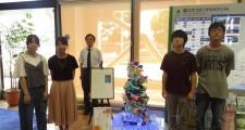 富士市市役所での展示風景