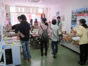 高専祭での「留学生の部屋」展示