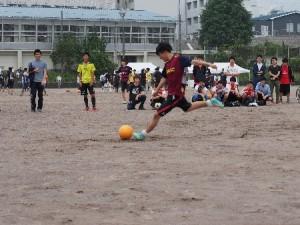 フットボールの試合