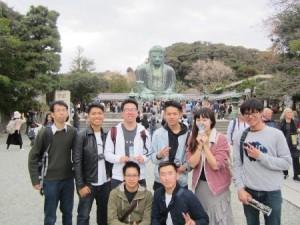 研修旅行風景Ⅲ(鎌倉大仏殿高徳院)