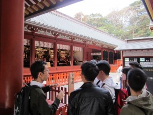 研修旅行風景Ⅱ(鶴岡八幡宮)