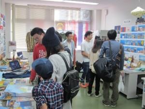 高専祭での「留学生の部屋」展示風景