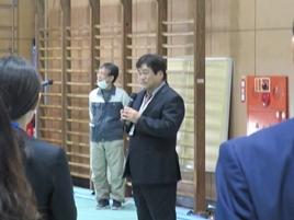 COC+統括責任者である藤本晶校長の挨拶